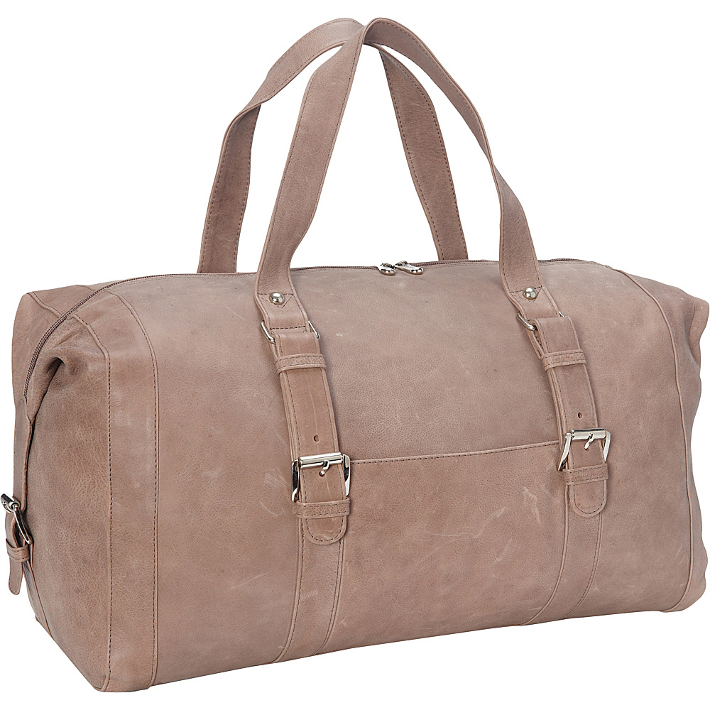 Piel Satchel with Buckles Toffee- eBags Exclusive - Piel Travel Duffels - Duffels, Travel Duffels
