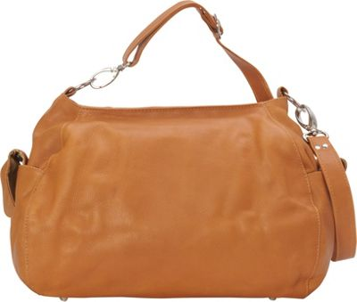 Piel Top-Zip Shoulder Bag/Cross Body Hobo Honey - Piel Leather Handbags