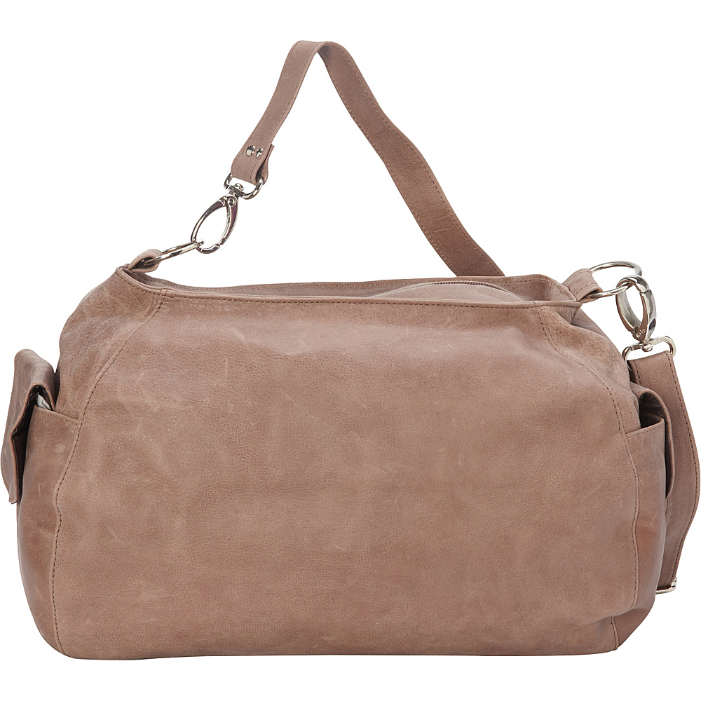 Piel Top-Zip Shoulder Bag/Cross Body Hobo Toffee - Piel Leather Handbags