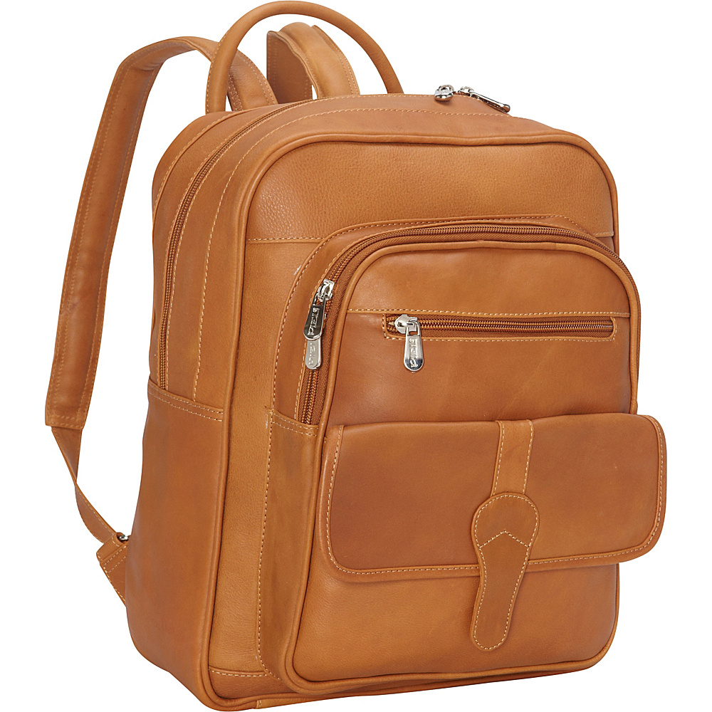 Piel Medium Buckle Flap Backpack Honey - Piel Everyday Backpacks - Backpacks, Everyday Backpacks