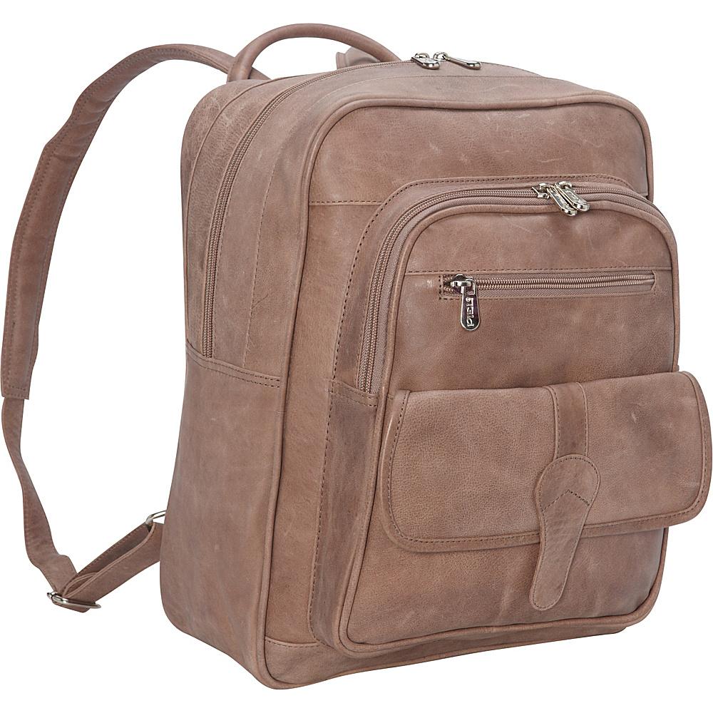 Piel Medium Buckle Flap Backpack Toffee- eBags Exclusive - Piel Everyday Backpacks - Backpacks, Everyday Backpacks