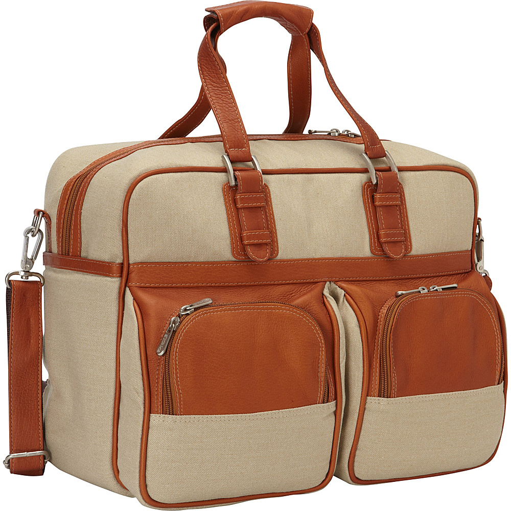 Piel Carry-On with Pockets Saddle - Piel Travel Duffels - Duffels, Travel Duffels