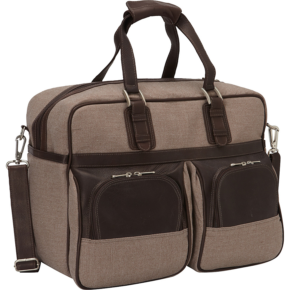 Piel Carry-On with Pockets Chocolate - Piel Travel Duffels - Duffels, Travel Duffels