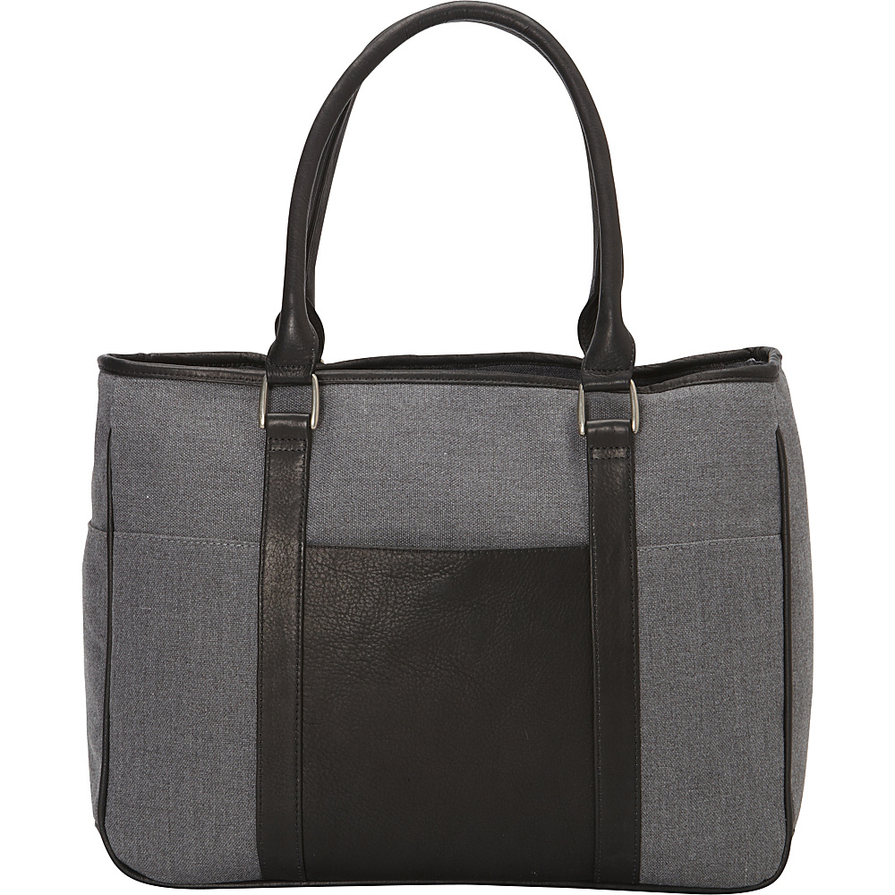 Piel Small Shopping Tote Black - Piel Leather Handbags - Handbags, Leather Handbags