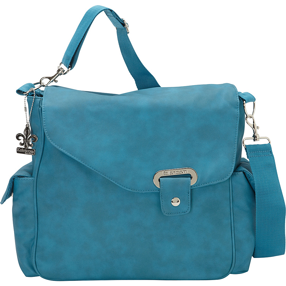 Kalencom Vegan Diaper Messenger Bag Blueberry Blue Kalencom Diaper Bags Accessories