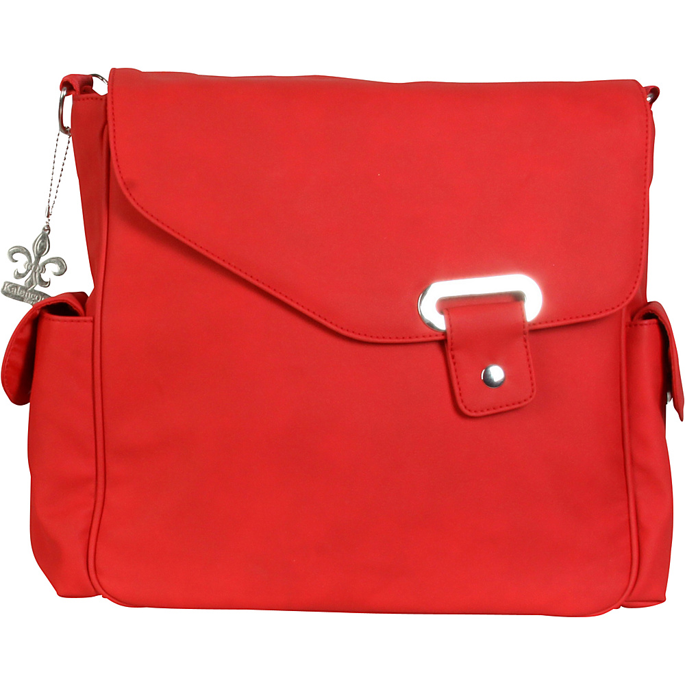 Kalencom Vegan Diaper Messenger Bag Strawberry Red Kalencom Diaper Bags Accessories