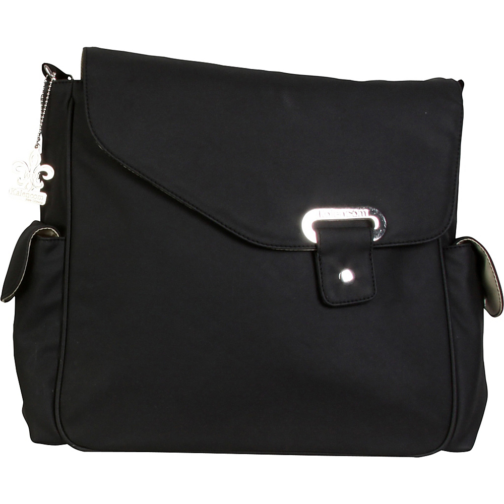 Kalencom Vegan Diaper Messenger Bag Black Kalencom Diaper Bags Accessories