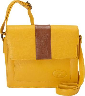 Sharo Leather Bags Women's High Fashion Crossbody Bag Mustard - Sharo Leather Bags Leather Handbags