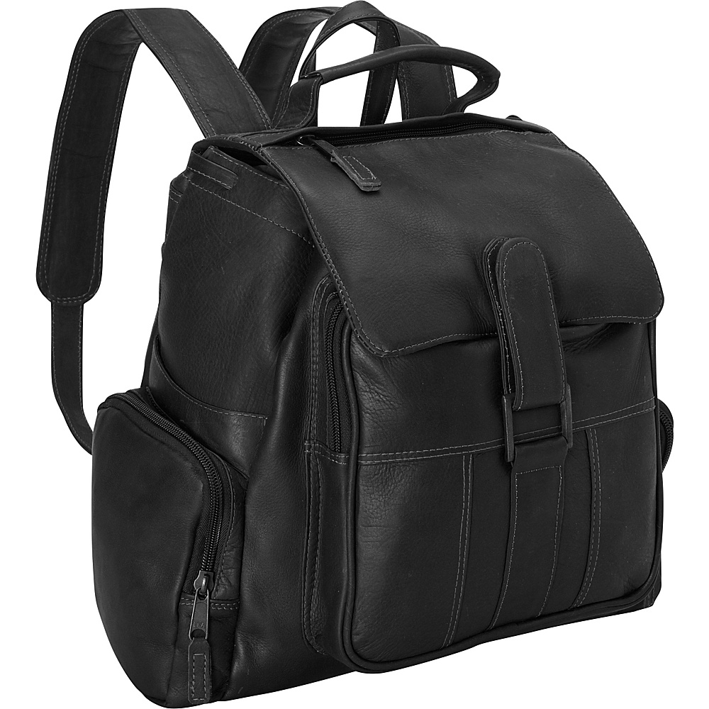 Latico Leathers Discovery Backpack - Medium Black - Latico Leathers Everyday Backpacks