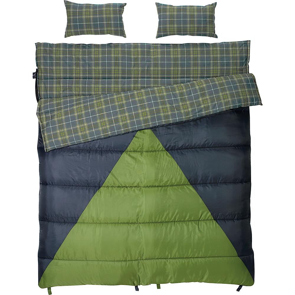 Slumberjack Bonnie & Clyde 40/30 Double Wide Sleeping Bag Blue - Slumberjack Outdoor Accessories