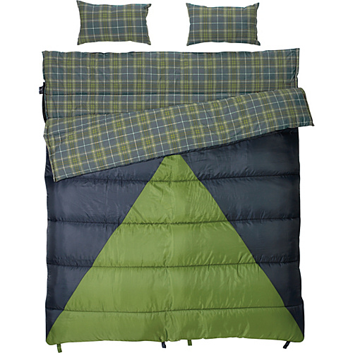 Slumberjack Bonnie & Clyde 40/30 Double Wide Sleeping Bag Blue - Slumberjack Outdoor Accessories
