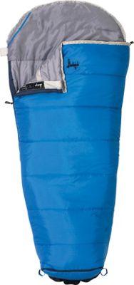 Slumberjack Go-N-Grow Boys 30 Degree Short Right Hand Sleeping Bag Blue - Slumberjack Outdoor Accessories