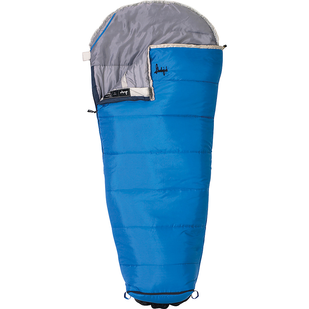 Slumberjack Go N Grow Boys 30 Degree Short Right Hand Sleeping Bag Blue Slumberjack Outdoor Accessories