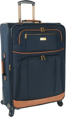 Tommy Bahama Mojito 28 inch Expandable Spinner Navy - Tommy Bahama Softside Checked