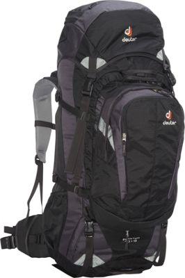Deuter Quantum 70 + 10 Backpack black/silver - Deuter Day Hiking Backpacks
