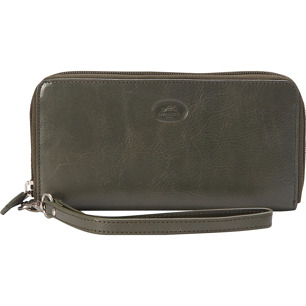 "Mancini Leather Goods Ladies' RFID ""Zippy"" Wallet Olive Green - Mancini Leather Goods Women's Wallets"