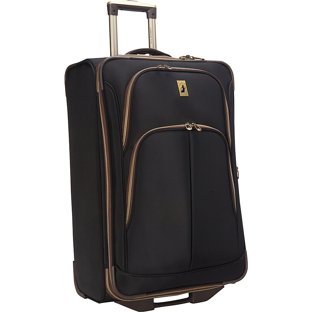 "London Fog Coventry Ultra-Lite Collection 26"" Exp. Upright Black - London Fog Large Rolling Luggage"