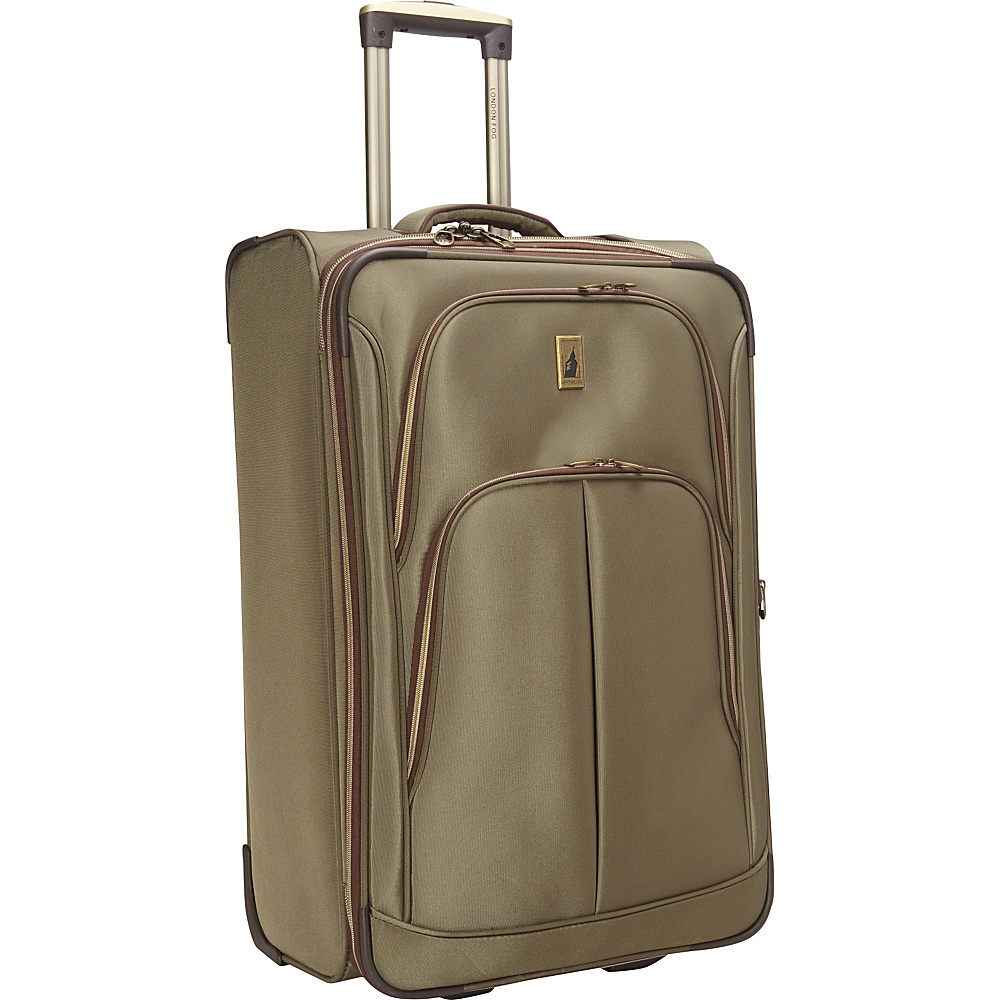 "London Fog Coventry Ultra-Lite Collection 26"" Exp. Upright Spruce - London Fog Large Rolling Luggage"