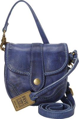 Frye Campus Mini Crossbody Sapphire - Frye Designer Handbags