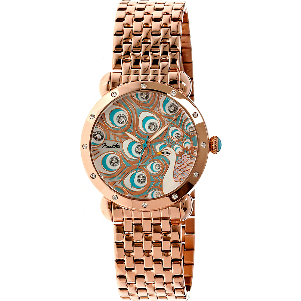 Bertha Watches Genevieve Watch Rose Gold Multicolor Bertha Watches Watches