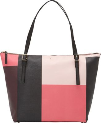 kate spade new york Emma Lane Fabric Maya Tote Pink Colorblock - kate spade new york Designer Handbags