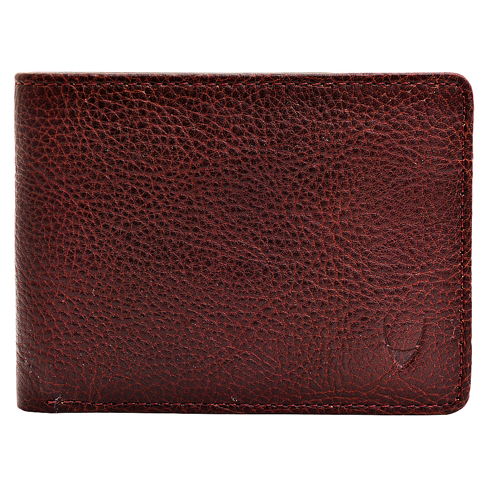 Hidesign Giles Classic Compact Thin Vegetable Tanned Leather Wallet Brown Hidesign Men s Wallets