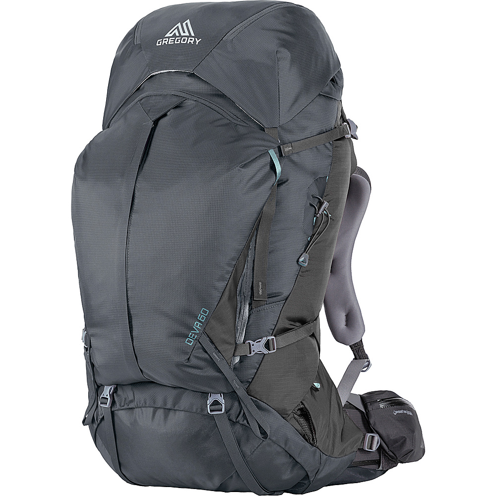 Gregory Deva 60 Medium Pack Charcoal Gray Gregory Day Hiking Backpacks