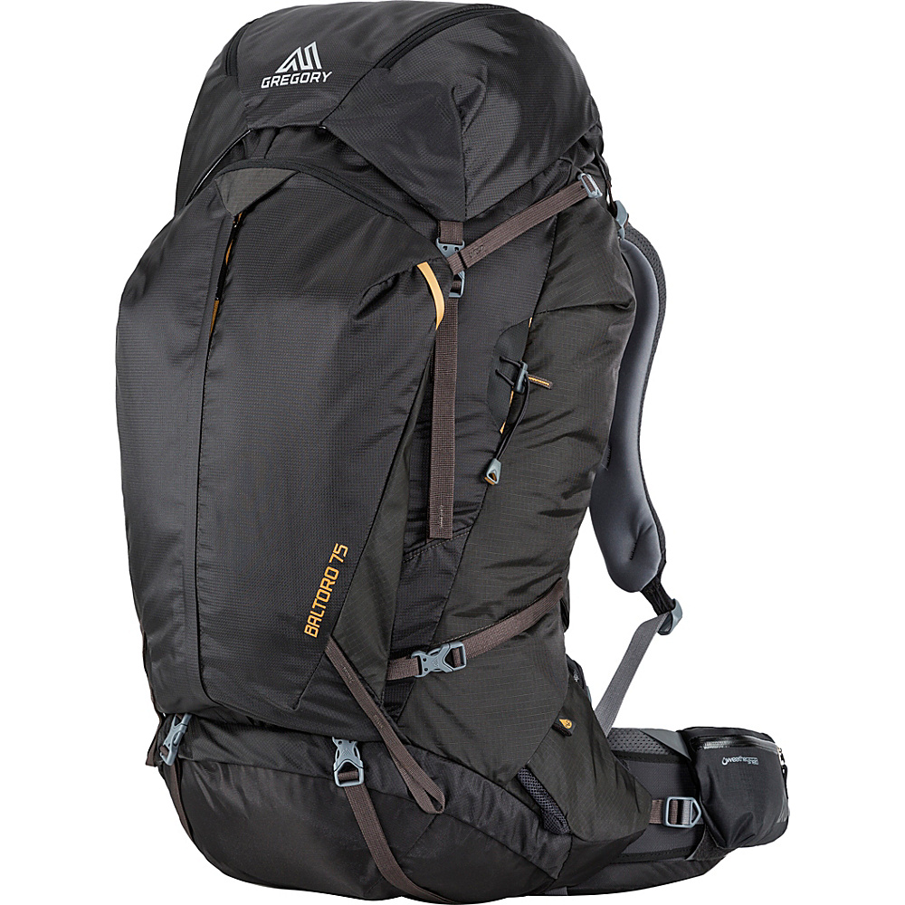 Gregory Men s Baltoro 75 Medium Pack Shadow Black Gregory Day Hiking Backpacks