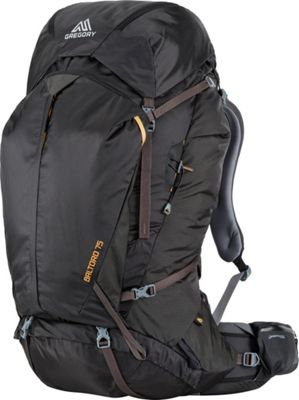 Gregory Men's Baltoro 75 Pack Shadow Black - Medium - Gregory Day Hiking Backpacks