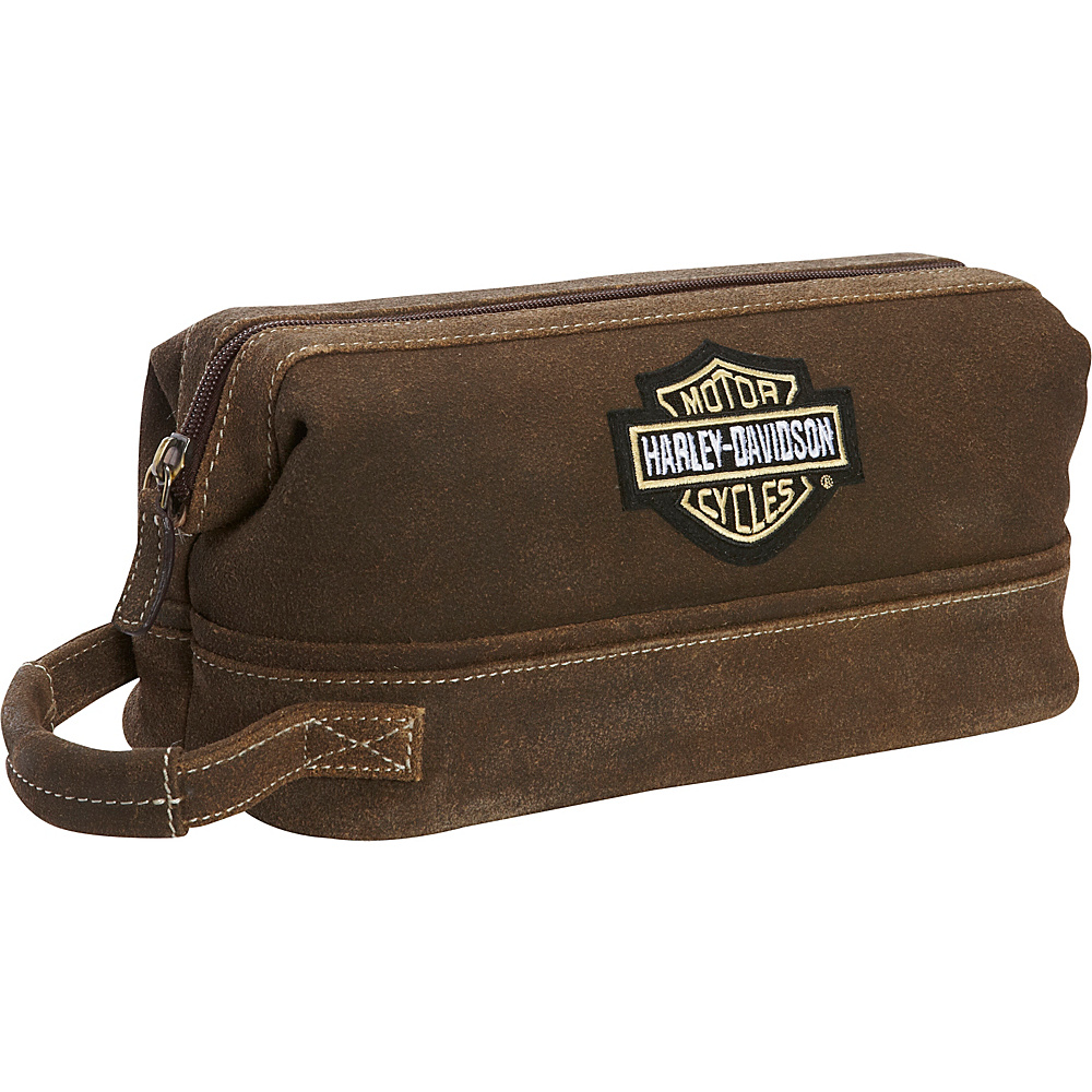 Harley Davidson by Athalon Leather Toiletry Kit Distressed Brown - Harley Davidson by Athalon Toiletry Kits