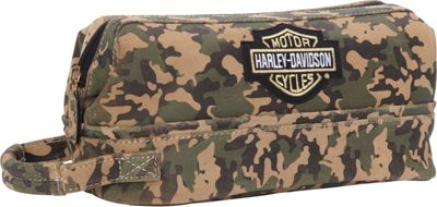 Harley Davidson by Athalon Leather Toiletry Kit Camouflage - Harley Davidson by Athalon Toiletry Kits