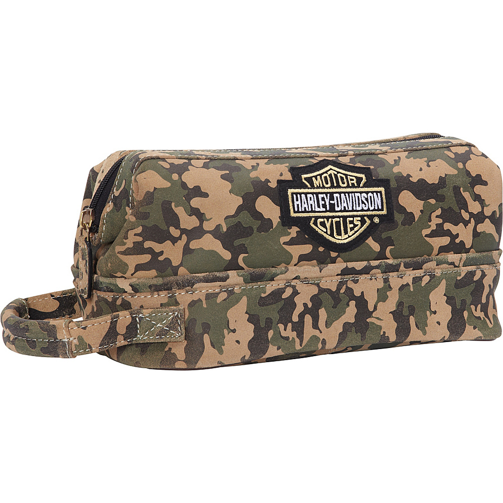 Harley Davidson by Athalon Leather Toiletry Kit Camouflage Harley Davidson by Athalon Toiletry Kits