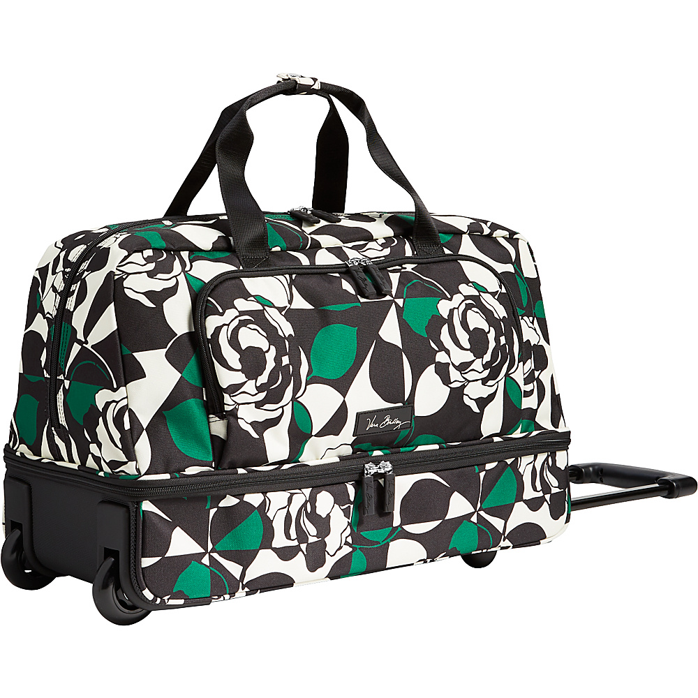 Vera Bradley Lighten Up Wheeled Carry-on Duffel Imperial Rose - Vera Bradley Rolling Duffels - Luggage, Rolling Duffels