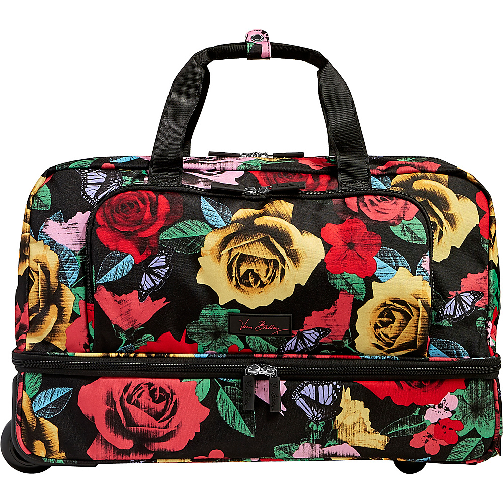 Vera Bradley Lighten Up Wheeled Carry-on Duffel Havana Rose - Vera Bradley Rolling Duffels - Luggage, Rolling Duffels
