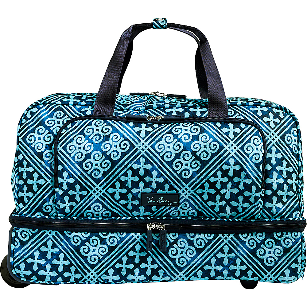 Vera Bradley Lighten Up Wheeled Carry-on Duffel Cuban Tiles - Vera Bradley Rolling Duffels - Luggage, Rolling Duffels