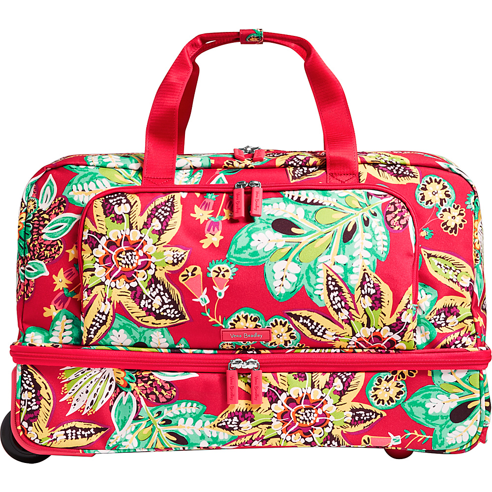 Vera Bradley Lighten Up Wheeled Carry-on Duffel Rumba - Vera Bradley Rolling Duffels - Luggage, Rolling Duffels