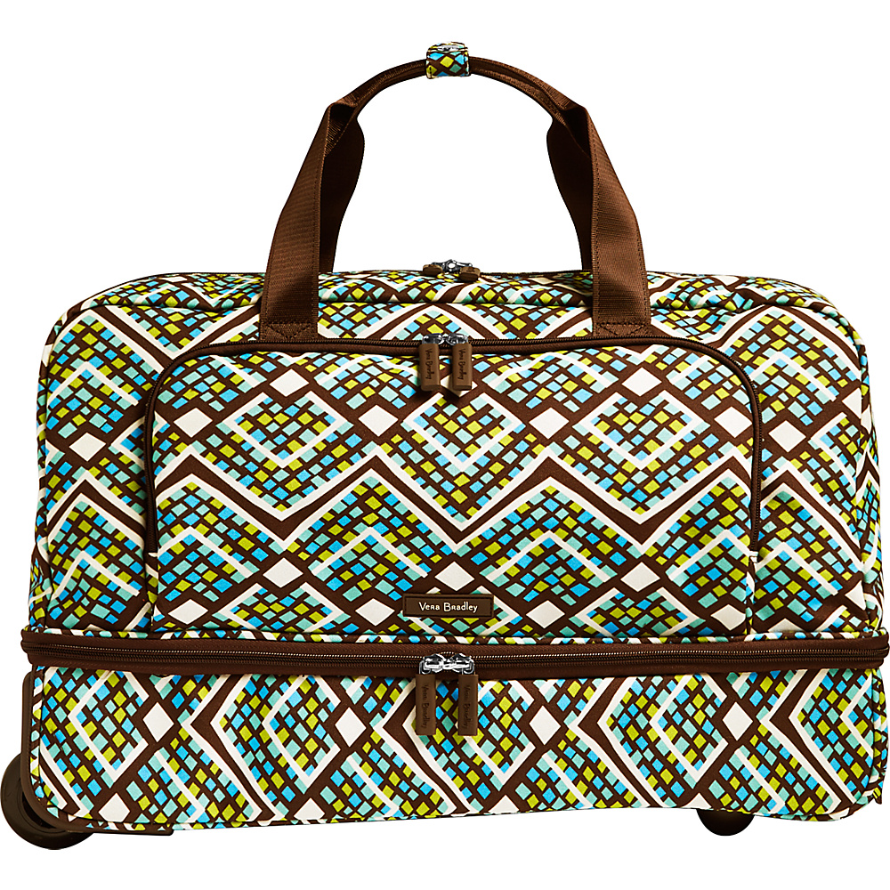 Vera Bradley Lighten Up Wheeled Carry-on Duffel Rain Forest - Vera Bradley Rolling Duffels - Luggage, Rolling Duffels