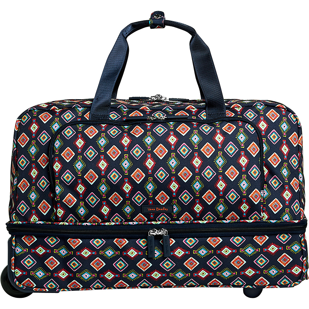 Vera Bradley Lighten Up Wheeled Carry-on Duffel Mini Medallions - Vera Bradley Rolling Duffels - Luggage, Rolling Duffels