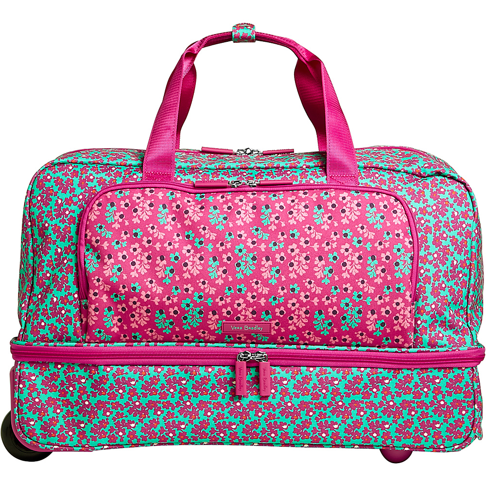 Vera Bradley Lighten Up Wheeled Carry-on Duffel Ditsy Dot - Vera Bradley Rolling Duffels - Luggage, Rolling Duffels