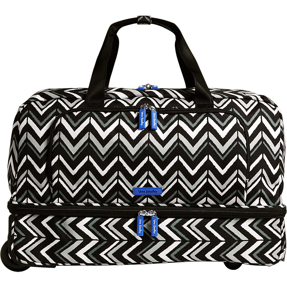 Vera Bradley Lighten Up Wheeled Carry-on Duffel Lotus Chevron - Vera Bradley Rolling Duffels - Luggage, Rolling Duffels