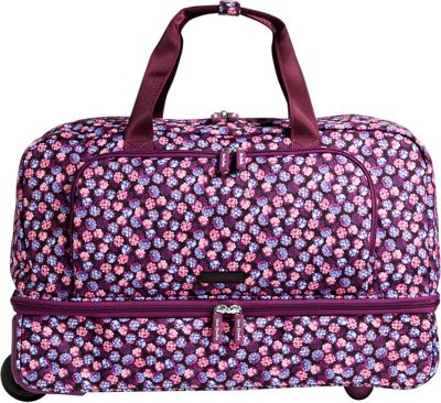 Vera Bradley Lighten Up Wheeled Carry-on Duffel Berry Burst - Vera Bradley Rolling Duffels