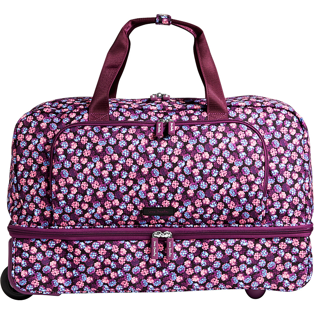 Vera Bradley Lighten Up Wheeled Carry-on Duffel Berry Burst - Vera Bradley Rolling Duffels - Luggage, Rolling Duffels