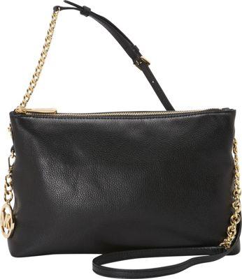 MICHAEL Michael Kors Jet Set Top Zip Chain Messenger Black - MICHAEL Michael Kors Designer Handbags