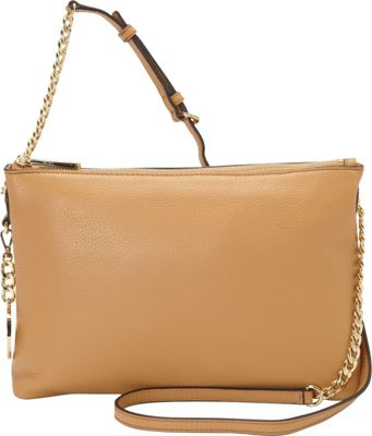 MICHAEL Michael Kors Jet Set Top Zip Chain Messenger Peanut - MICHAEL Michael Kors Designer Handbags