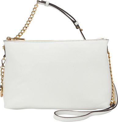 MICHAEL Michael Kors Jet Set Top Zip Chain Messenger Optic White - MICHAEL Michael Kors Designer Handbags