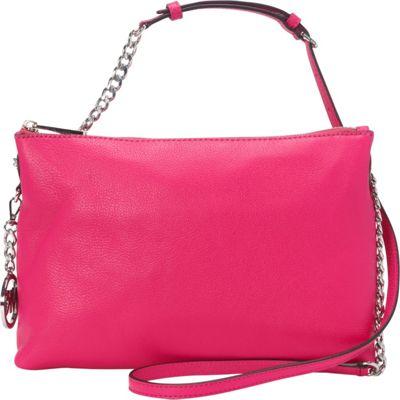 MICHAEL Michael Kors Jet Set Top Zip Chain Messenger Raspberry - MICHAEL Michael Kors Designer Handbags