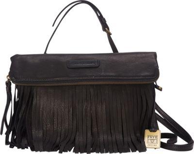 Frye Heidi Fringe Crossbody Black - Frye Designer Handbags