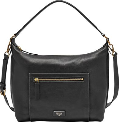 Fossil Vickery Shoulder Bag Black - Fossil Leather Handbags