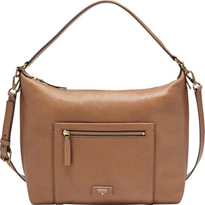 Fossil Vickery Shoulder Bag Camel - Fossil Leather Handbags