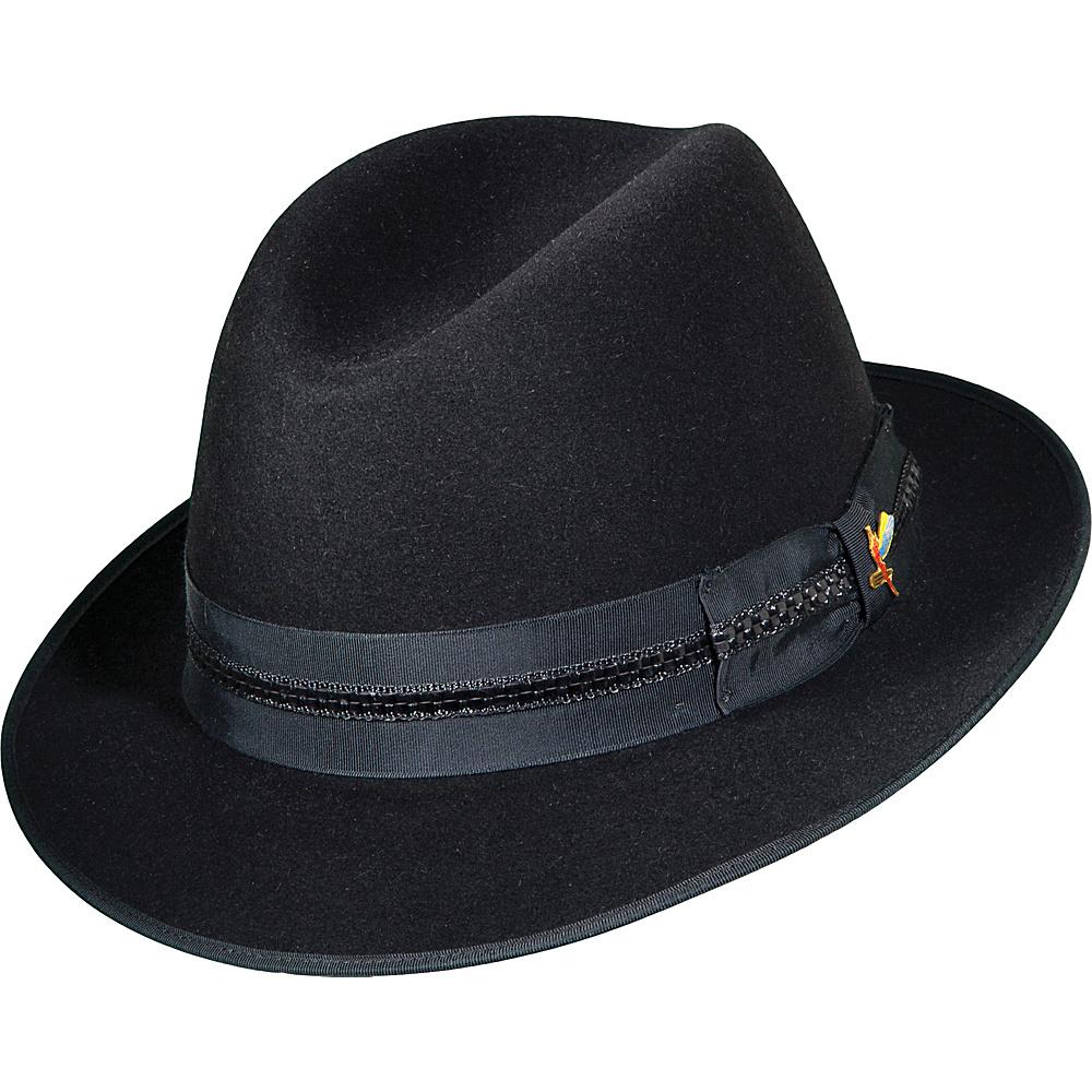 UPC 016698525497 product image for Carlos Santana Hats Essential Fur Felt  Fedora BLACK-LARGE ... 4939b655a4c